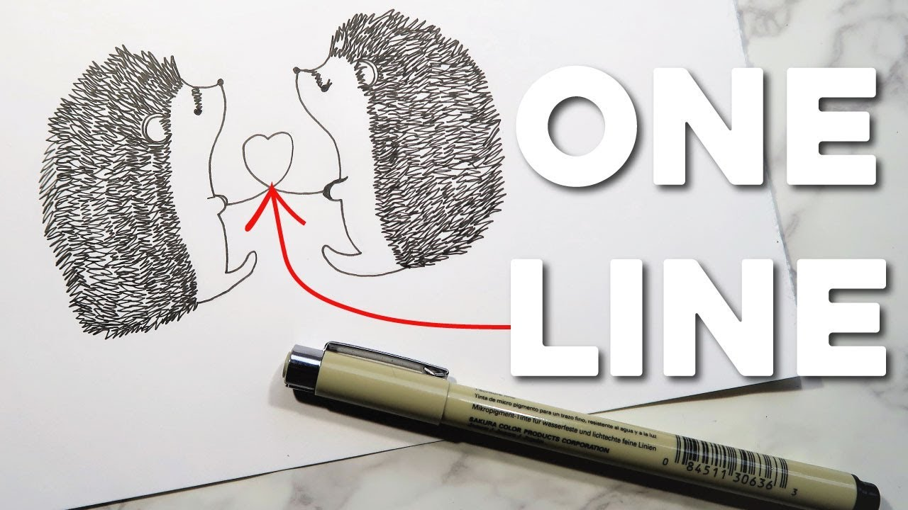 The Line Art Challenge Sketches For Days : One line art challenge the hedgehog drawing youtube