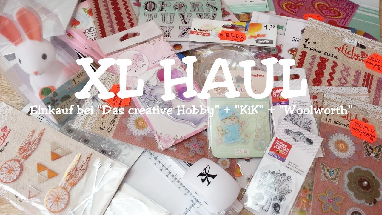 haul xl einkauf bei das creative hobby kik woolworth schn ppchen youtube. Black Bedroom Furniture Sets. Home Design Ideas