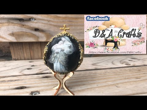 DIY: How to make decoration and decoupage on wooden egg for Easter TUTORIAL