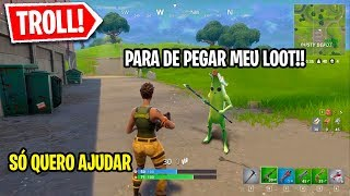 I pretended to be Zé Lootinho at Fortnite and he crossed the line... (Social Fortnite test)