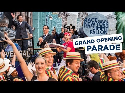 Race Through New York Starring Jimmy Fallon Grand Opening