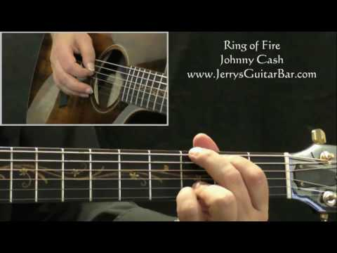 How To Play Johnny Cash Ring of Fire (intro only)