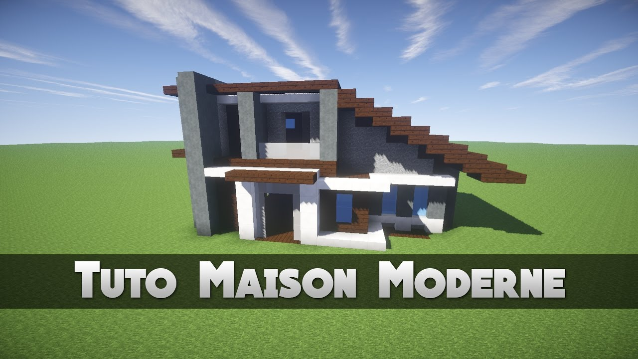 tuto maison moderne minecraft youtube. Black Bedroom Furniture Sets. Home Design Ideas
