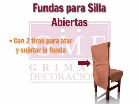 Funda para sillas abiertas youtube for Sillas para bodas