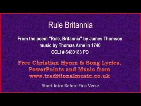 Rule Britannia -  Hymn Lyrics & Orchestral Music