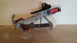 Firing Glowing Bolts, With A Selfmade Half Life Style Crossbow
