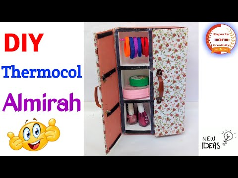 How To Reuse Thermocol|How To Make Mini Thermocol Almirah|New Craft Idea|Experts Of Creativity #93
