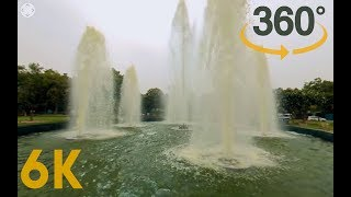 5.7K 360 VR Video of Fountain near Meridian Hotel at New Delhi, India