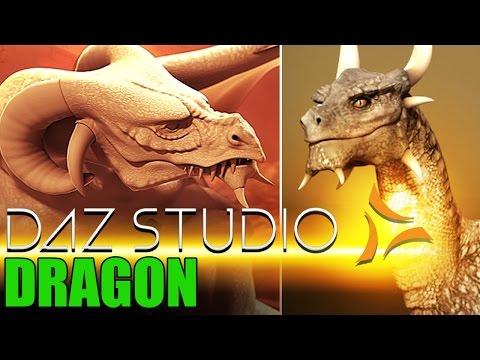 DAZ Studio Dragon Tutorial - Beginners 3D Software - Shannon Maer DAZ Stud