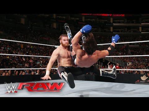 Sami Zayn vs. AJ Styles: Raw, April 11, 2016