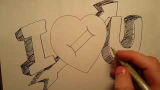 How to Draw I Love You With Heart Basic Drawing Skills Series