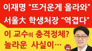 """이재명 저격한 서울大 교수의 놀라운 정체! """"…"""
