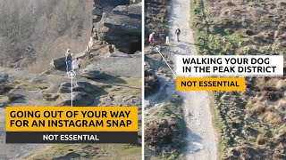 video: WATCH: Police tell Peak District visitors that walking could be a burden to emergency services during lockdown