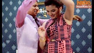 ऋषि धमला दम्पती द्वारा धमाकेदार डान्स || कमेडी होस्टेल COMEDY HOSTEL || Rishi Dhamala & Aliza Gautam