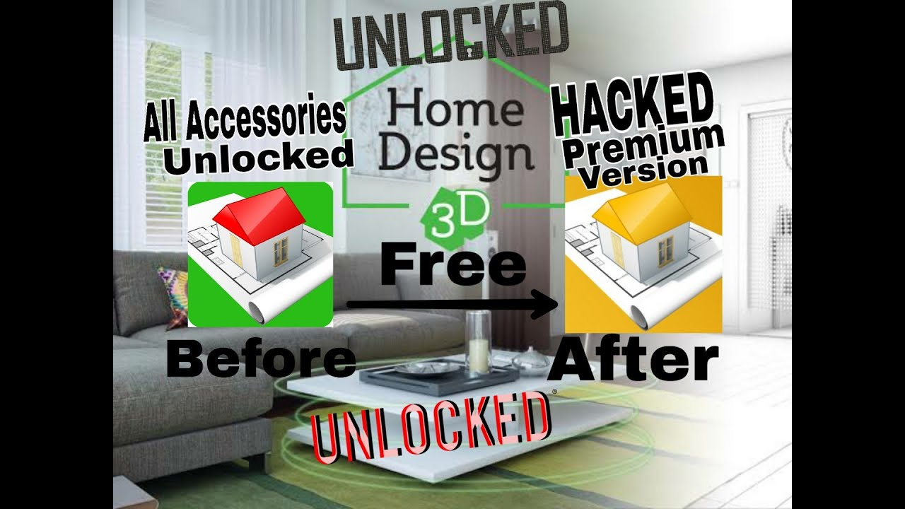 Home Design 3D 2019 Unlocked All Accessories Apk & Premium