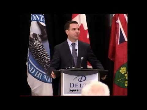 Tim Hudak presentation at 83rd OFAH Fish and Wildlife Conference in March, 2011