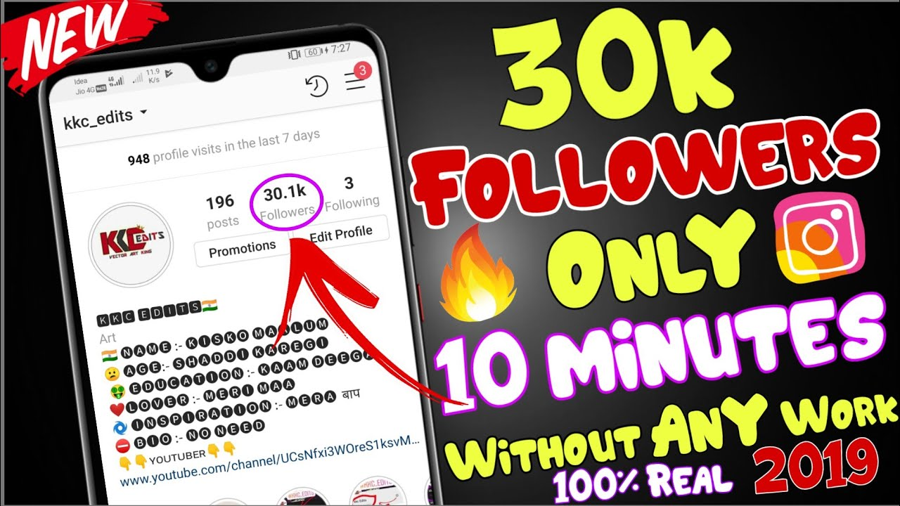 30k Instagram followers only 10 minutes without any work 2019 | unlimited free coin app 2019