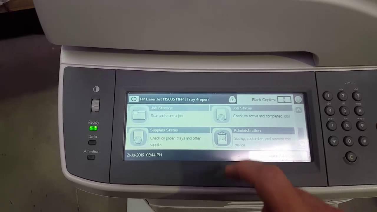 impresora hp 4345 mfp manual