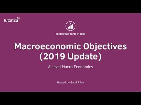 Macroeconomic Objectives (2019 Update)