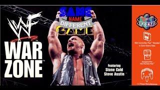 Same Name, Different Game: WWF War Zone (N64 vs. PlayStation vs. Game Boy)