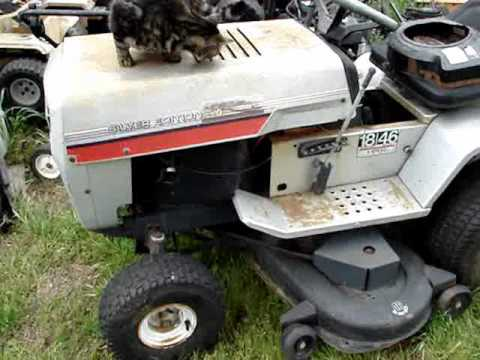 Mtd Silver Edition 18 46 Lawn Tractor Very Rare Youtube