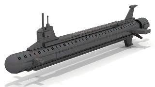 Hoe te Bouwen van LEGO Mini Virginia Klasse Stijl Onderzeeër