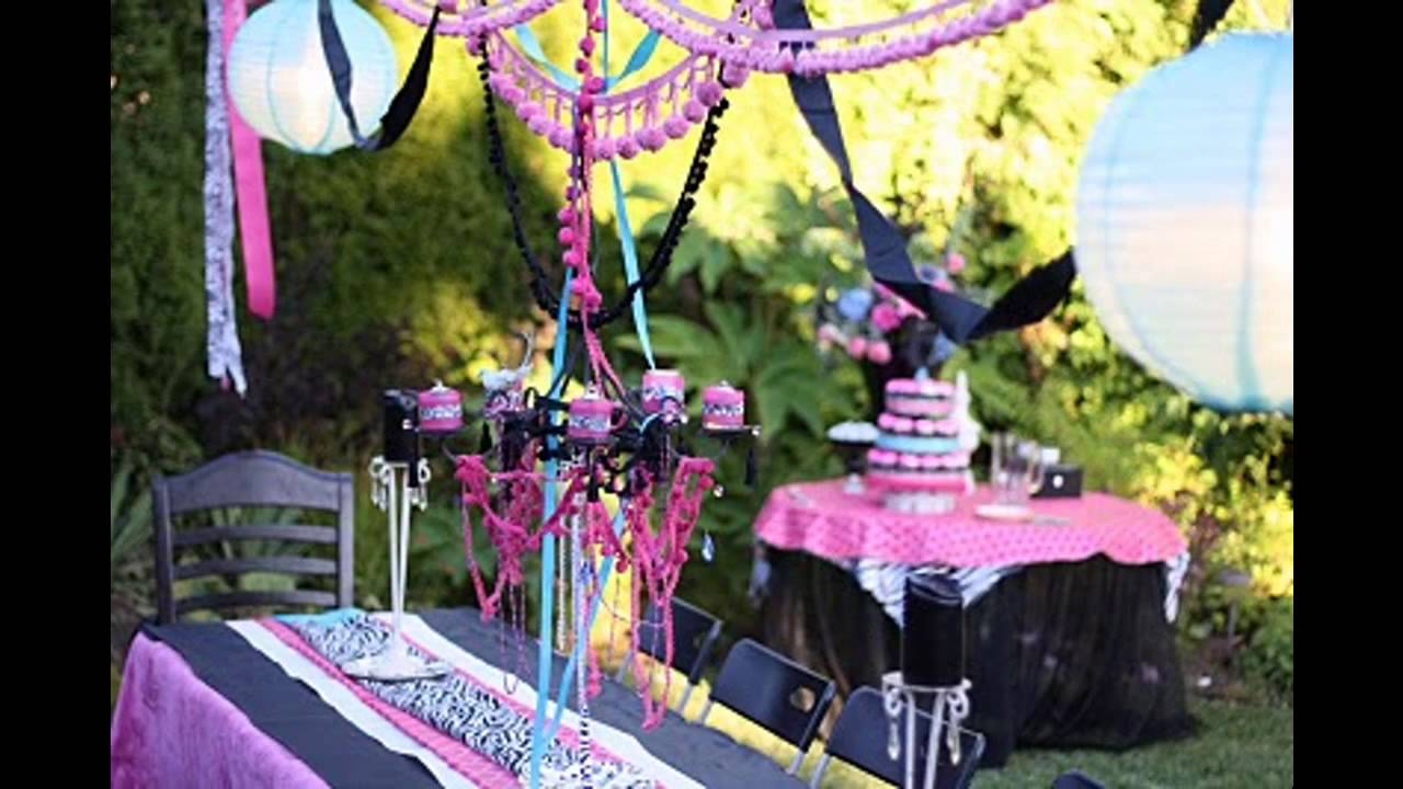 Cool Teenage Birthday Party Themes Decorating Ideas