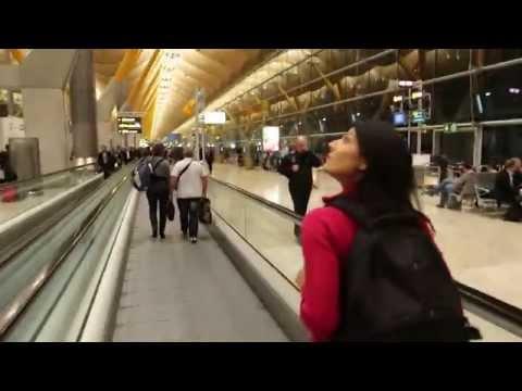 Arriving at Madrid-Barajas Airport