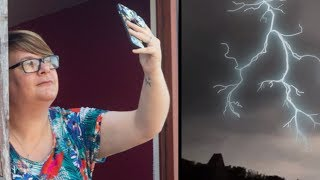 Woman Films Moment She Was Struck By LIGHTNING