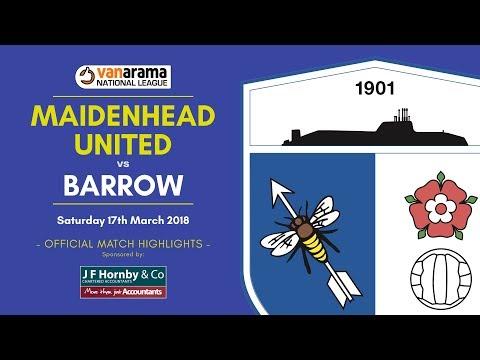 2017/18: Maidenhead United v BARROW