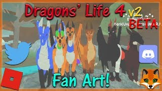 Roblox - Dragons' Life 4 v2 BETA - Fan Art! #16 - HD