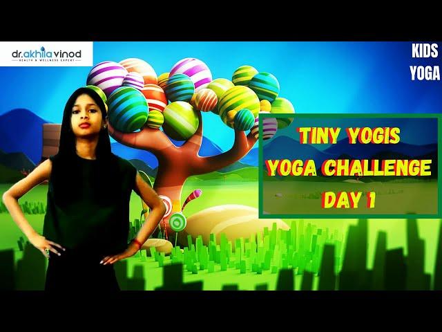 Tiny Yogis 5 Day Yoga Challenge Day 1 | Tiny Yogis Yoga Challenge | Kids Yoga | Yoga For Kids