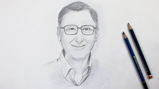 Gambar cover How to Draw Bill Gates step by step | Drawing Buzz
