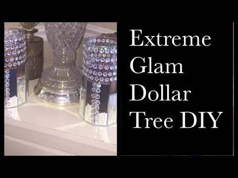 💎💎Dollar Tree DIY Glam Glass Candle Holders  💎💎