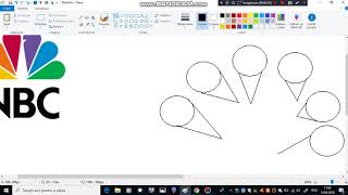 How to Draw NBC logo in MS Paint from Scratch