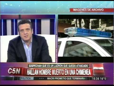 C5N - POLICIALES: HALLAN A UN HOMBRE MUERTO EN UNA CHIMENEA