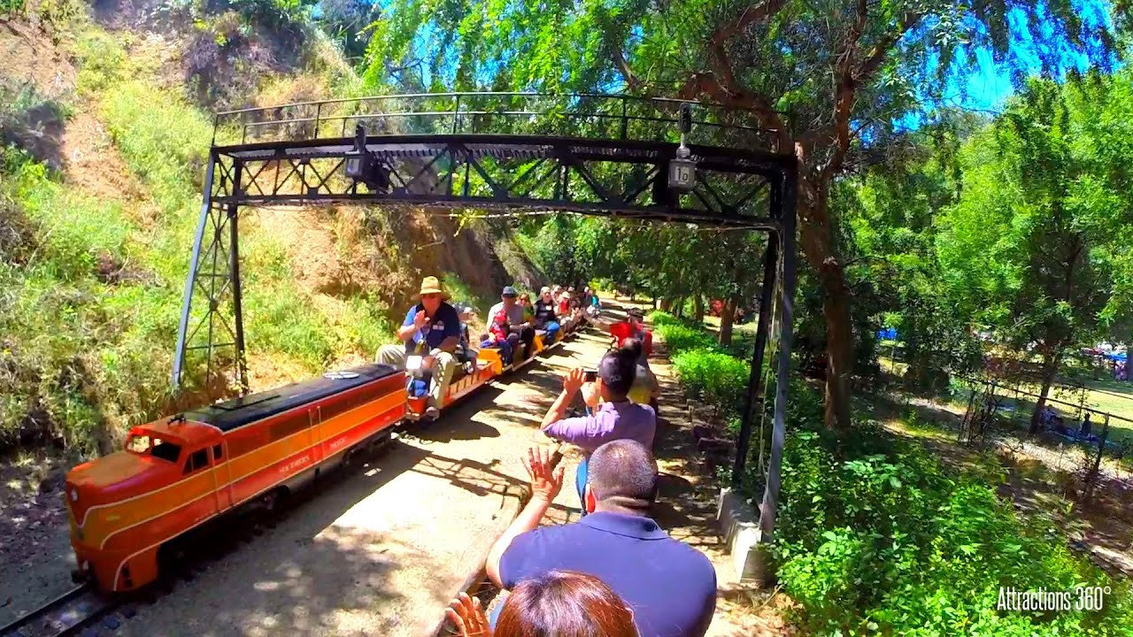 "Miniature Train Ride at L.A Griffith Park. 7.5"" Model Railroad Train Ride"
