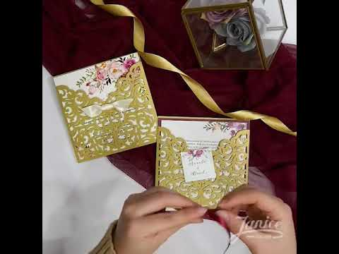 DIY gorgeous Gold invitations WPL0070-178