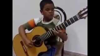 Sửng sốt cậu nhóc 6 tuổi thể hiện 'My heart will go on' bằng guitar