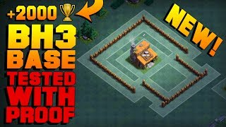 BEST Builder Hall 3 Base w/ 2 CANNONS! | NEW CoC Strategy How To Get +2000 As BH3! | Clash of Clans