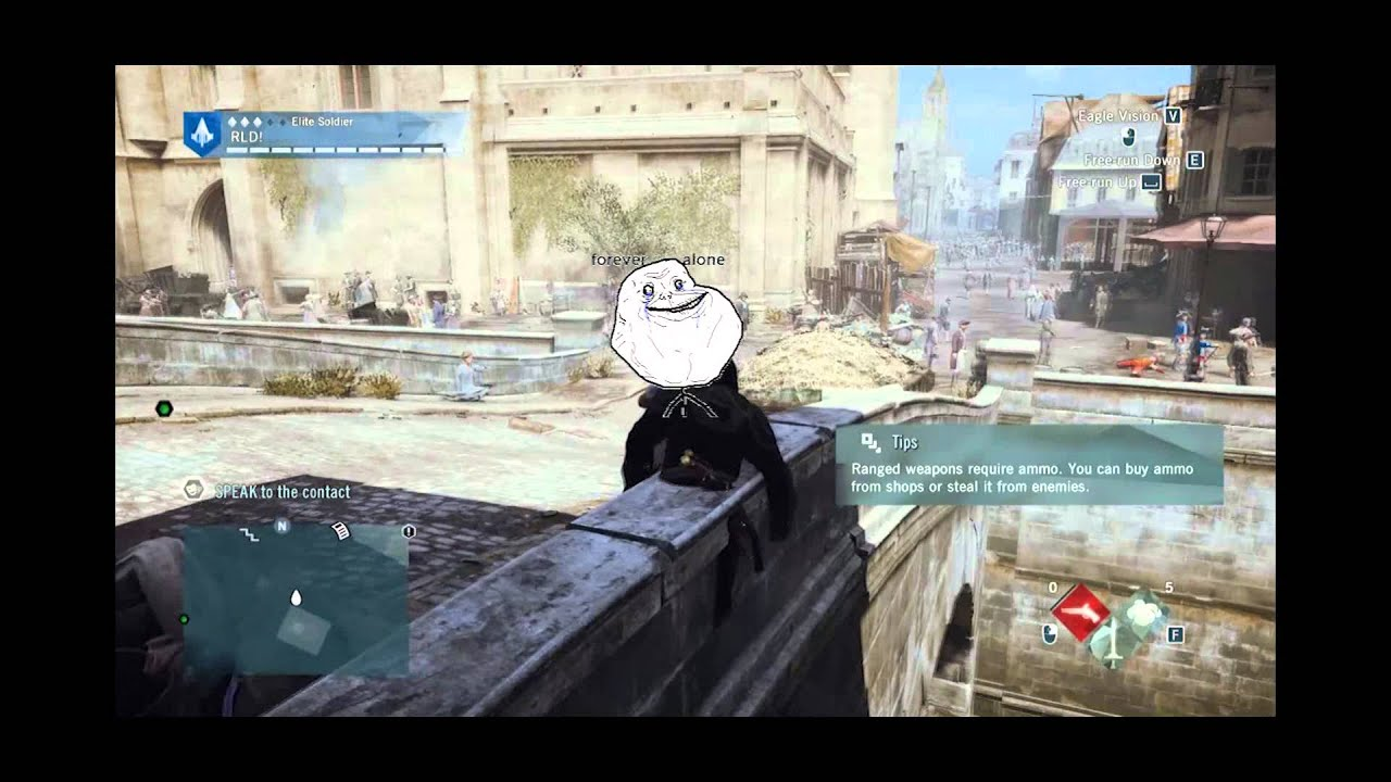 Assassin's Creed Unity - Funny Moments | Wall Bug | Meme