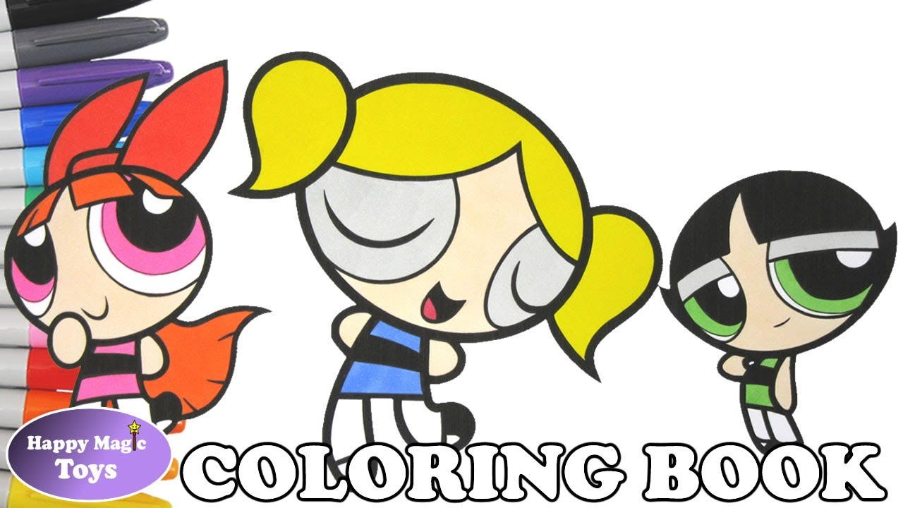 The Powerpuff Girls Coloring Book Pages Bubbles Buttercup Blossom ...