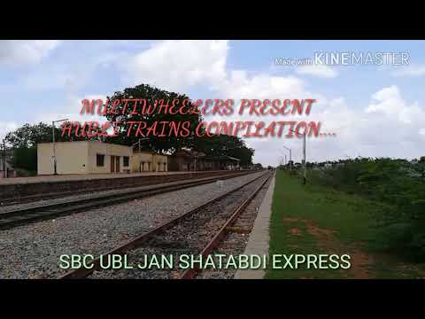 HUBLI FASTEST TRAIN COMPILATION..