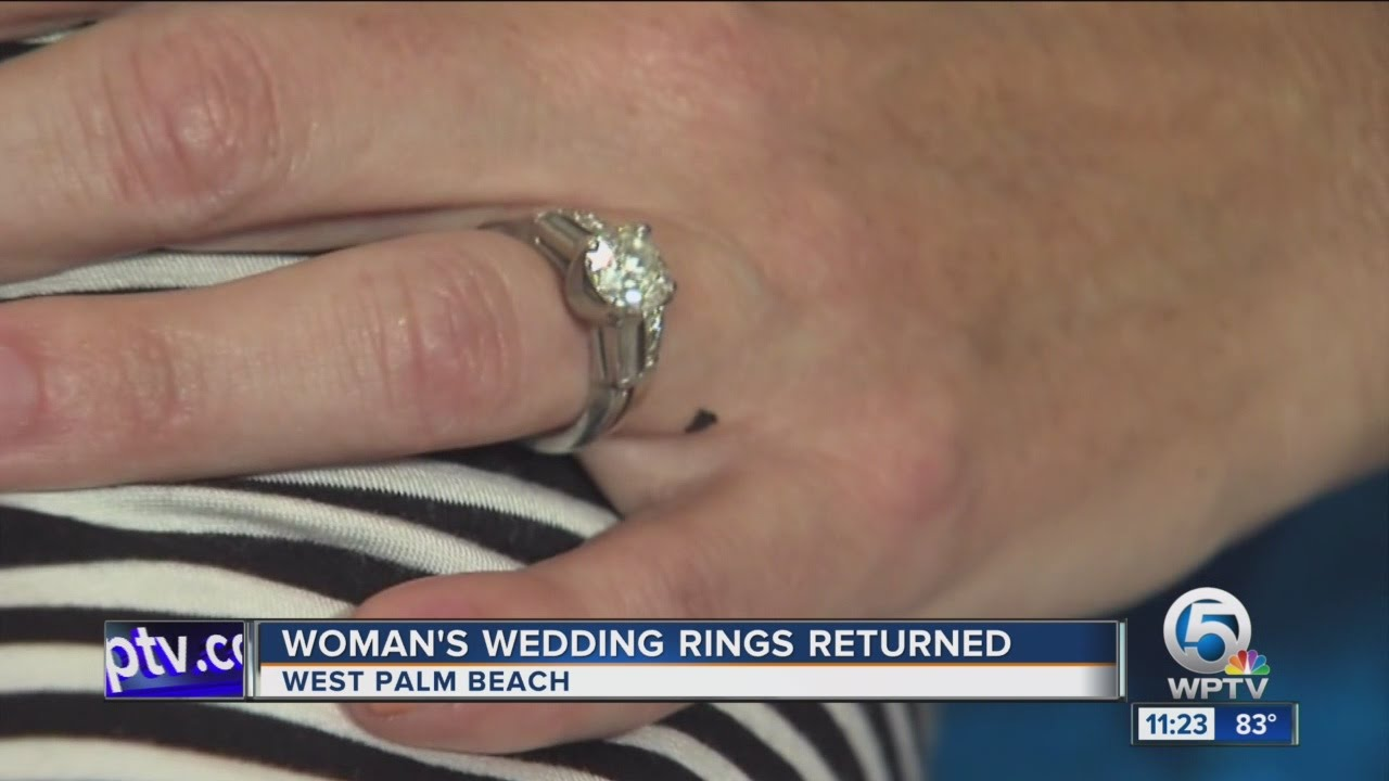 Womans missing wedding rings worth 14000 returned YouTube
