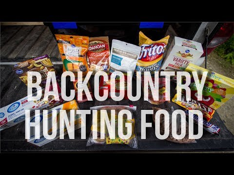 MEAL PLAN FOR BACKCOUNTRY HUNTING