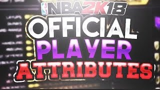 HOW TO CHECK ATTRIBUTE STATS IN NBA 2K18 (MUST WATCH!!)