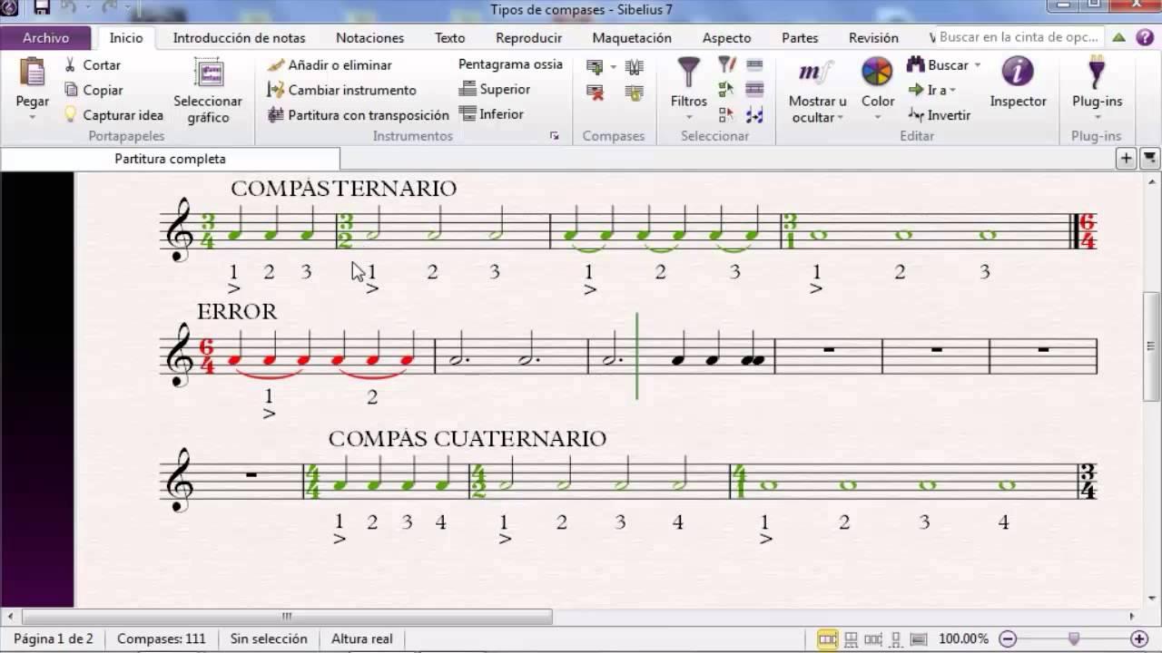 Tutorial lenguaje musical lecci n 4 tipos de compases for Tipos de tresillos