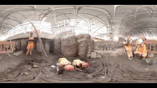 Crossrail archaeology: 360° video of suspected 1665 plague pit uncovered at Liverpool Street