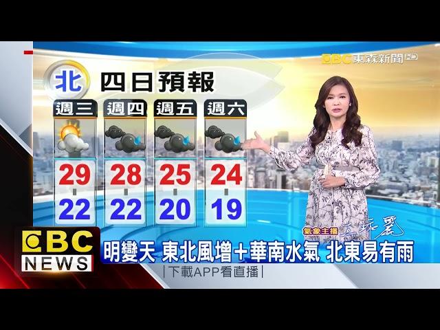 氣象時間 1101020 淑麗早安氣象@東森新聞 CH51