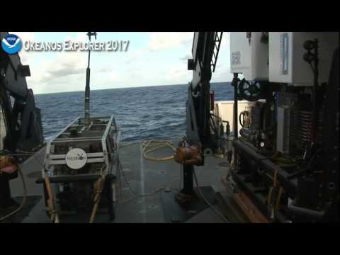 Okeanos Explorer ROV Dive July 21 2017 Launch & Descent